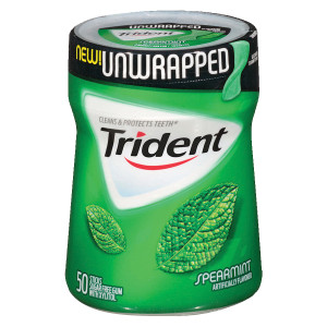 Trident Unwrapped Sugar Free Gum Spearmint