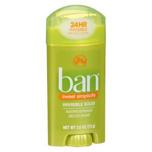 Ban Invisible Solid, Antiperspirant & Deodorant Sweet Simplicity