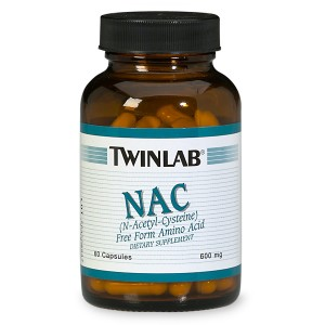 Twinlab NAC 600 mg Dietary Supplement Capsules