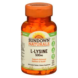 Sundown Naturals L-Lysine 500 mg Dietary Supplement Tablets