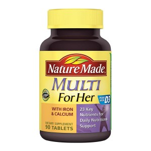 Nature Made Multi For Her With Iron & Calcium Dietary Supplement Tablets