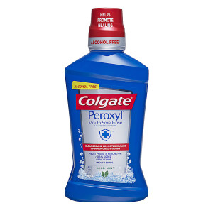Colgate Peroxyl Mouth Sore Rinse Mild Mint