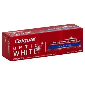 Colgate Optic White Anticavity Fluoride Toothpaste Icy Fresh