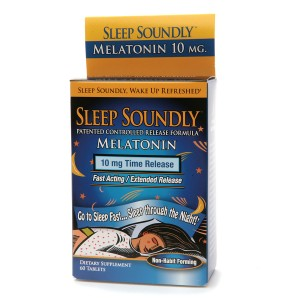 NutritionWorks Sleep Soundly Melatonin 10mg, Time Release Tablets