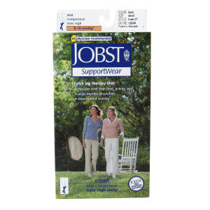Jobst SupportWear SoSoft Mild Compression Socks, Knee High 8-15mmHg Sand,Sand