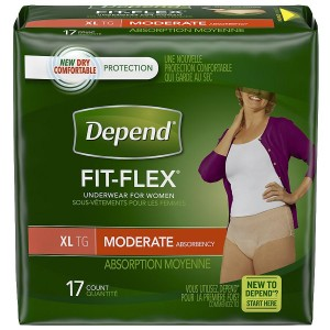 Depend Incontinence Underwear for Women, Moderate Absorbency Extra Large Peach