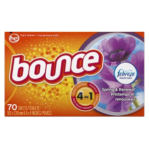 Bounce Fabric Softener Dryer Sheets with Febreze Spring & Renewal