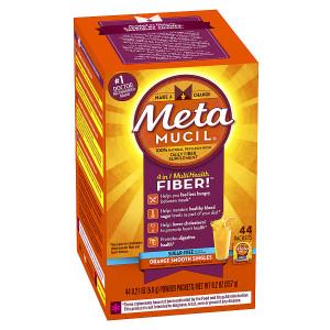 Metamucil Psyllium Daily Fiber Supplement Powder Packets Orange Smooth
