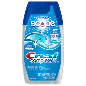 Crest Complete Multi-Benefit Whitening + Scope Liquid Gel Toothpaste Cool Peppermint