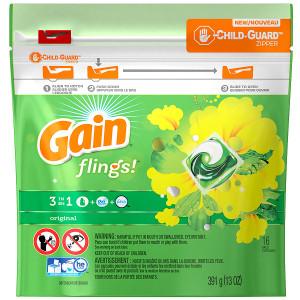 Gain Flings Laundry Detergent Packs Original