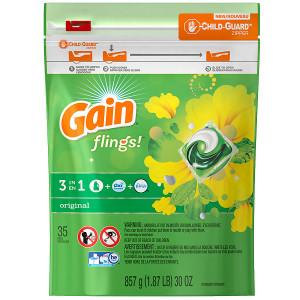 Gain Flings Laundry Detergent Original
