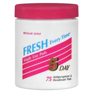 5 Day Antiperspirant & Deodorant Pads Regular