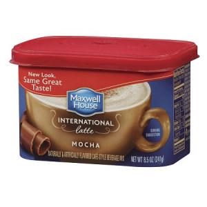 Maxwell House Hot Latte Cafe-Style Beverage Mix Mocha Latte