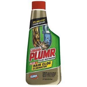 Clorox Liquid-Plumr Pro-Strength Hair Clog Eliminator