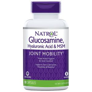 Natrol Hyaluronic Acid, MSM & Glucosamine, Vegetarian Capsules