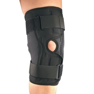 OTC Professional Orthopaedic Orthotex Knee Stabilizer Wrap with Hinged Bars Black