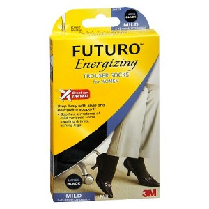 FUTURO Energizing Trouser Socks for Women, Mild Black,Black