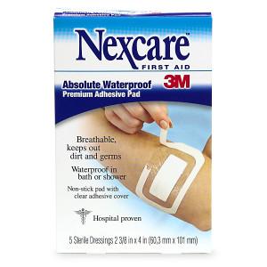 Nexcare Waterproof Transparent Dressing Sterile Adhesive Pads