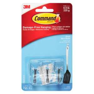 Command Utensil Hooks Clear