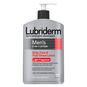 Lubriderm Men's 3-in-1 Body, Face & Post-Shave Lotion Light Fragrance