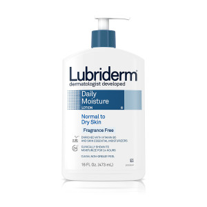 Lubriderm Daily Moisture Fragrance Free Lotion, For Normal to Dry Skin