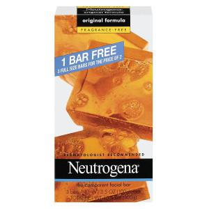 Neutrogena Transparent Facial Bar, Original Formula Fragrance Free