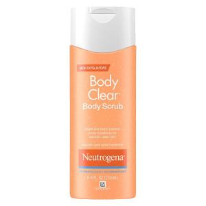 Neutrogena Body Clear Body Scrub, Salicylic Acid Acne Treatment