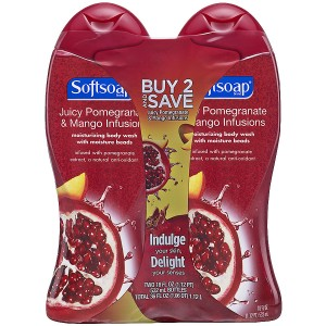 Softsoap Moisturizing Body Wash Juicy Pomegranate & Mango Infusions