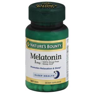 Nature's Bounty Melatonin 1 mg Dietary Supplement Tablets