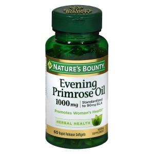 Nature's Bounty Standardized GLA 9% Evening Primrose Oil 1000 mg/90 mg Herbal Supplement Rapid R