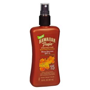 Hawaiian Tropic Protective Spray Lotion Sunscreen, SPF 15