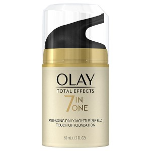 Olay Total Effects 7-in-1 Anti-Aging UV Moisturizer Plus Touch of Foundation