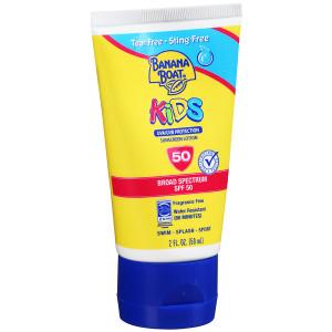 Banana Boat Kids Sunscreen Lotion, SPF 50 Fragrance Free