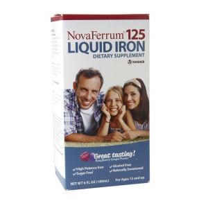 NovaFerrum 125 Liquid Iron Supplement Raspberry Grape