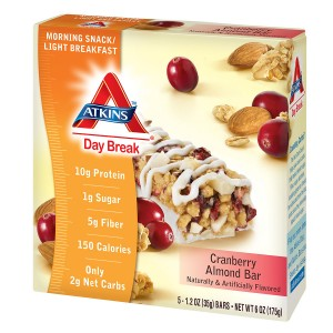 Atkins Day Break Snack Bars Cranberry Almond