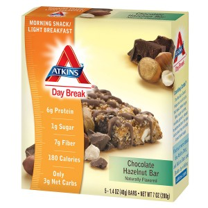 Atkins Day Break Snack Bars Chocolate Hazelnut
