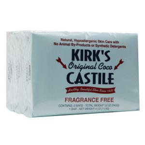 Kirk's Original Coco Castile Bar Soap Fragrance Free