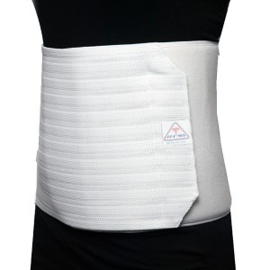 ITA-MED Women's Breathable Elastic Abdominal Binder, 12 Inch White,White