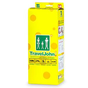 TravelJohn Disposable Personal Urinal Bag for Men, Women & Children