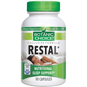 Botanic Choice Restal Sleep Support Herbal Supplement Capsules