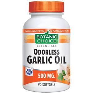 Botanic Choice Odorless Garlic Oil 500 mg Herbal Supplement Softgels