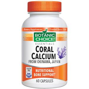 Botanic Choice Coral Calcium Dietary Supplement Capsules
