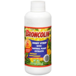 Broncolin Honey Syrup Dietary Supplement, Regular