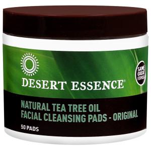 Desert Essence Natural Tea Oil  Original Facial Cleansing Pads