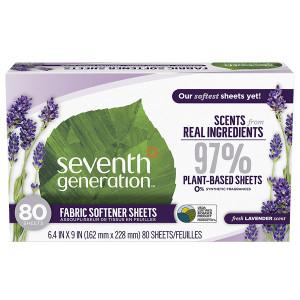 Seventh Generation Natural Fabric Softener Sheets Fresh Lavender