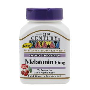 21st Century Quick Dissolve Melatonin 10mg, Tablets Cherry