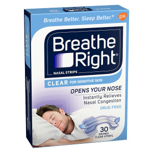Breathe Right Nasal Strips, Small/Medium Clear, Small/Medium Clear