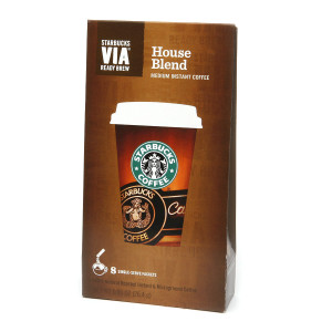 Starbucks Via Instant Coffee Packets, House Blend
