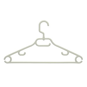 Honey Can Do 52 Gram Hanger, Swivel With Dress Notch White