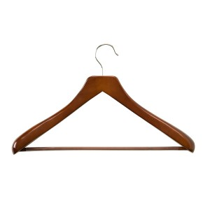 Honey Can Do Deluxe Contoured Suit Hanger With Non Slip Bar Cherry Finish